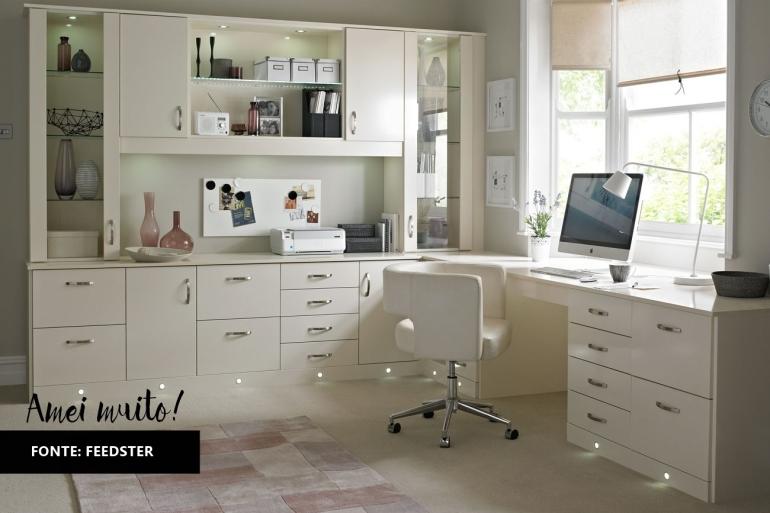 inspiração home office todo branco