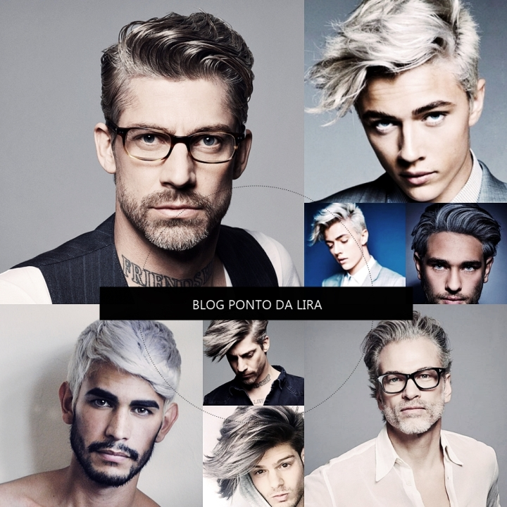 HAIR STYLE - GRANNY HAIR - CABELO CINZA FOR MEN - PONTO DA LIRA - MENS