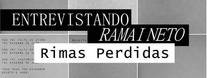 CAPA - ENTREVISTA RAMAI - RIMAS PERDIDAS - PONTO DA LIRA - F