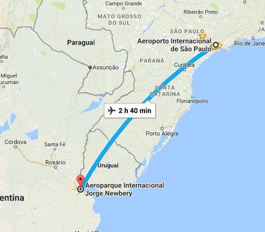 TRIP PLANNER - HOTEL ORLY - TRIPLO - ARGENTINA - BLOG PONTO DA LIRA - TRAJETO ARGENTINA PARA SÃO PAULO