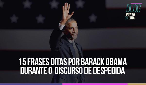 15 frases ditas por Barack Obama durante o discurso dedespedida