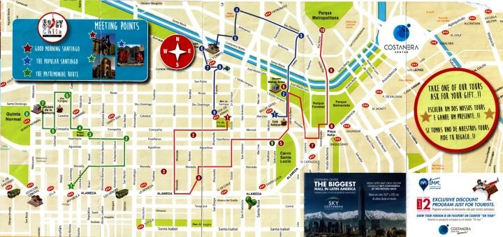 santiago-chile-mapa-compacto-caminhadas